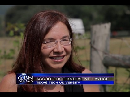 Katharine Hayhoe brings climate change message to Christian TV viewers