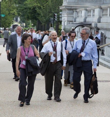 CCL Volunteers on their way to lobby Congress
